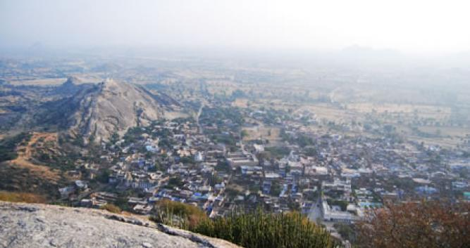 View over the town, Narlai, India