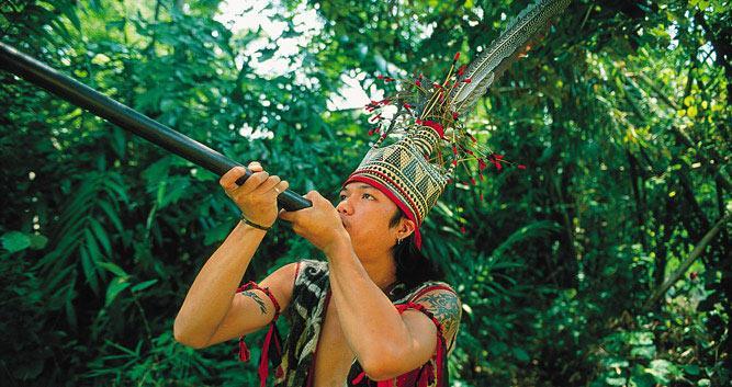 Headhunter, Sarawak, Borneo
