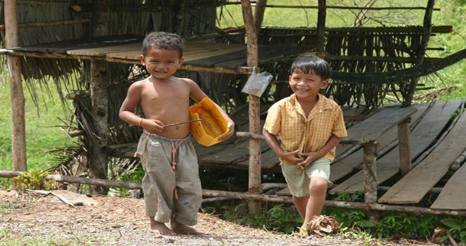 Local village children, rural Cambodia
