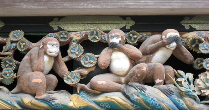 three wise monkeys - Luxury Japan Travel and Tours