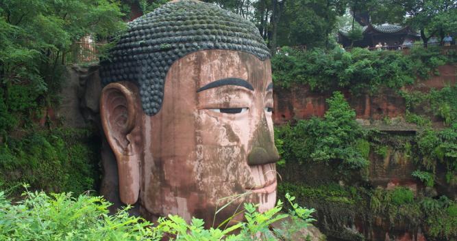 side-view-of-seated-Buddha-Leshan-near-Chengdu-China