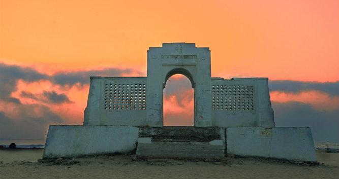 Sunrise at the beach, Chennai, India