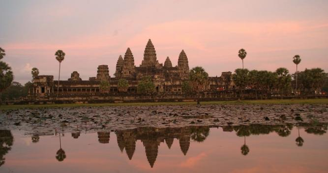 Sunset over Angkor Wat, Siem Reap, Cambodia