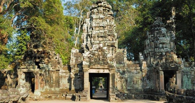 North gate at Angkor, Siem Reap, Cambodia