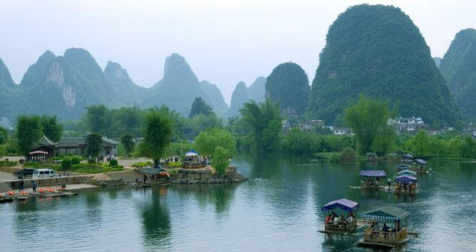 Li River Yangshuo, Guilin, China