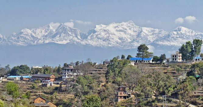 View to Anapurnas from Bandipur - Luxury Nepal Holidays