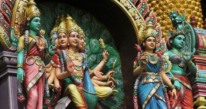 Religious statues at the Batu Caves, Kuala Lumpur, Malaysia