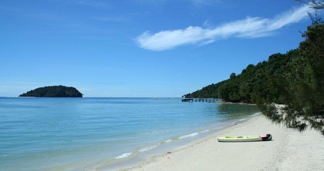 Deserted beach, Sabah, Borneo
