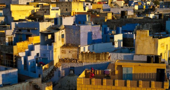 Local houses at sunrise, Jodhpur, India