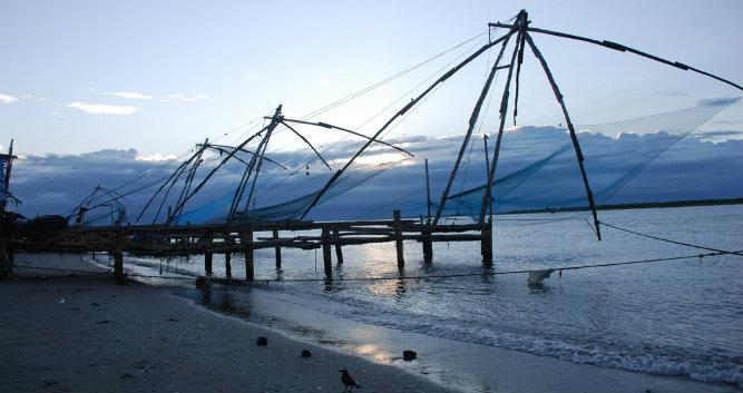 Chinese fishing nets, Fort Cochin, Kerala