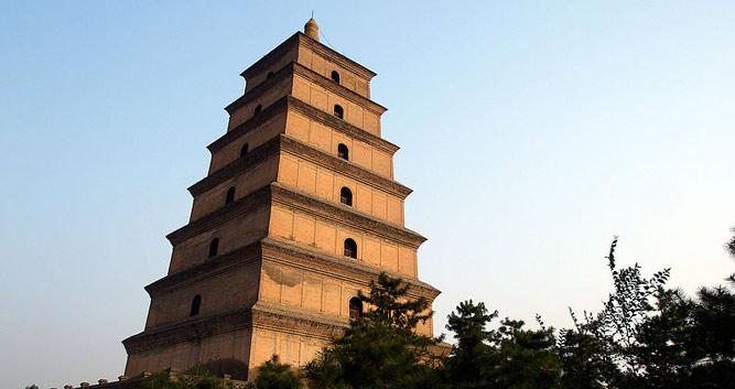 Big Wild Goose Pagoda, Xian in Luxury China Travel