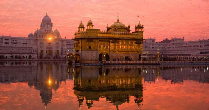 Golden Temple at dawn, Amritsar, India