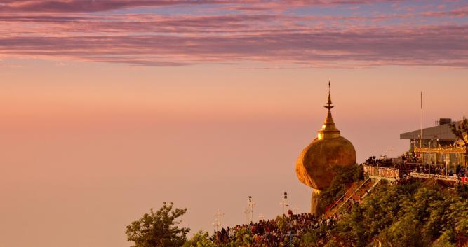 sunset - Golden Rock