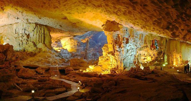 Majestic caves, Halong Bay, Vietnam