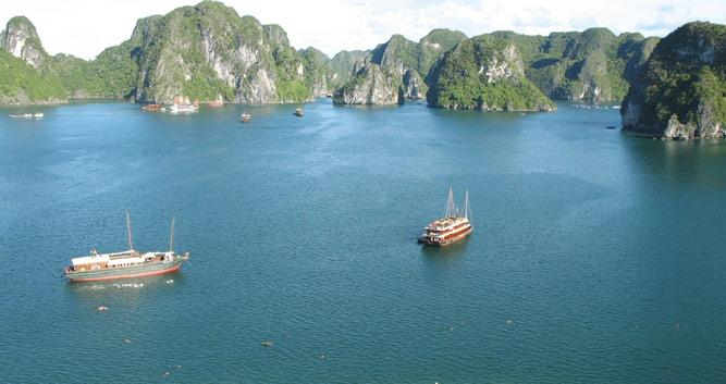 View over Halong Bay, Vietnam