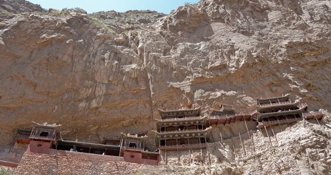 distant-shot-Hanging-Monastery-Datong-Shanxi-Province-China
