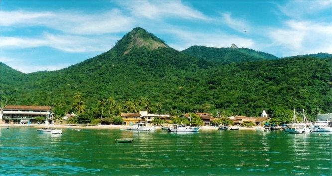 The main town Abraao, Ilha Grande