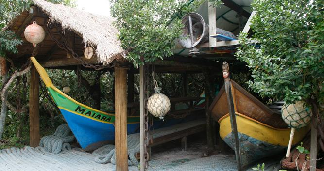 Taditional island culture, Ilha do Mel, Brazil