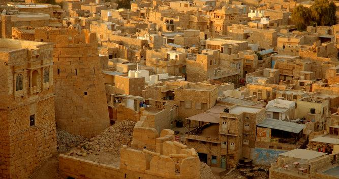 City view of Jaisalmer, India