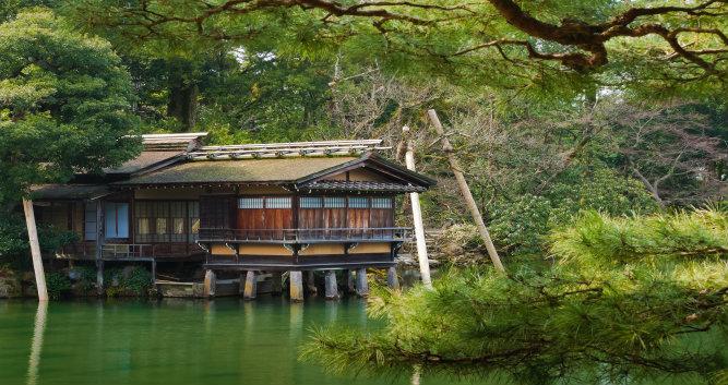 Uchihashi-tei Tea House, Kenrokuen Kanazawa-Japan