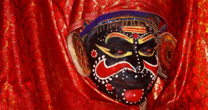 Kathakali traditional dance, Cochin, Kerala, India