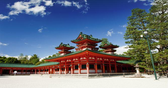 Heian Shrine in Kyoto-Japan
