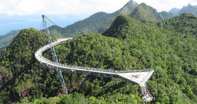 Suspension bridge, Langkawi, Malaysia