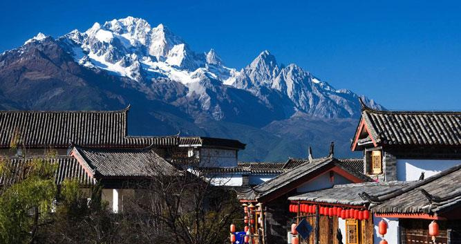 Snow capped mountain, Lijiang, Yunnan, China