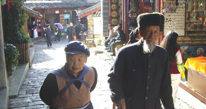 Old Couple in Lijiang, Yunnan, China