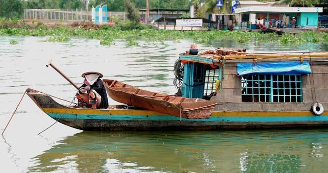 Traditional boat, Mekong Delta, Vietnam