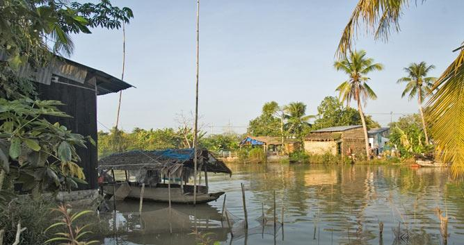 Local village in the heart of the Mekong Delta, Vietnam