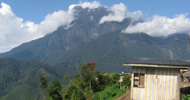 Clouds over Mount Kinabalu, Kota Kinabalu, Borneo