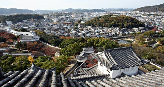 View-from-Himeji-Castle - Osaka - Luxury Japan Tours