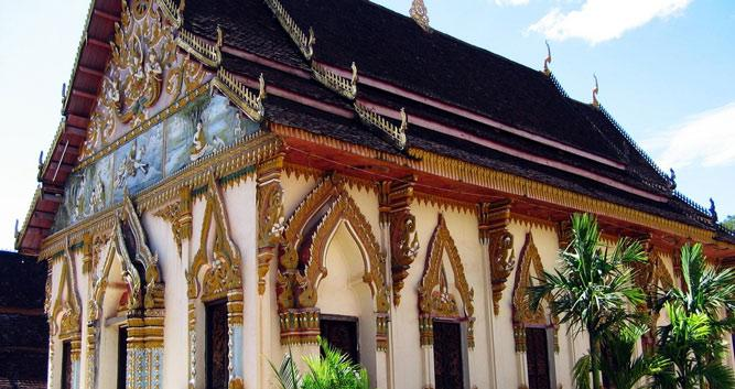 Temple in Pakse, Laos
