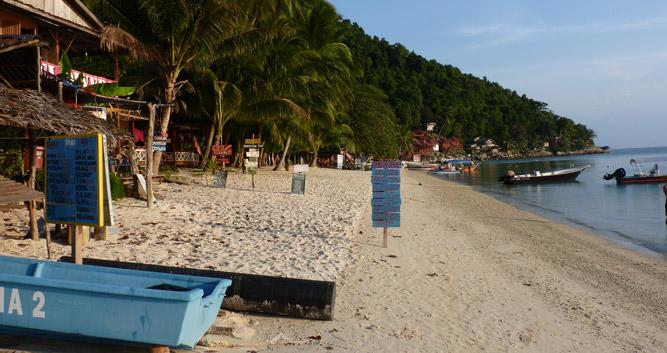 Beach restaurants, Perhentian Islands, Malaysia