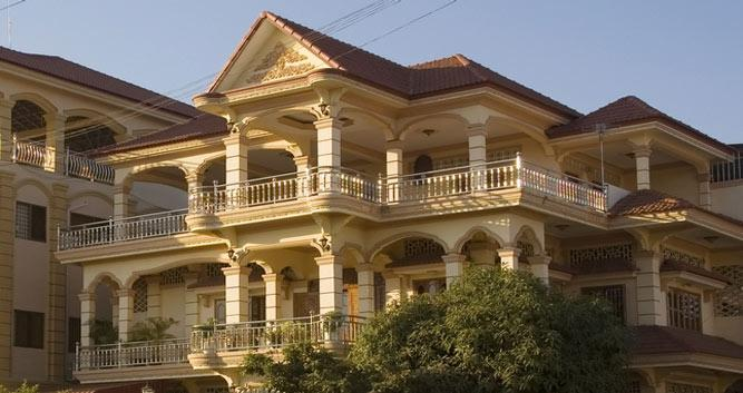 Colonial style house, Phnom Penh, Cambodia