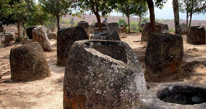 Site 1 of the plain of jars, Phonsavan, Laos