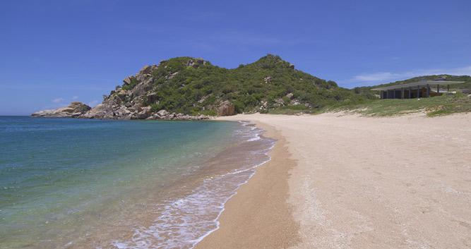 Beach in front of the Amanoi, Vinh Hy Bay, Vietnam