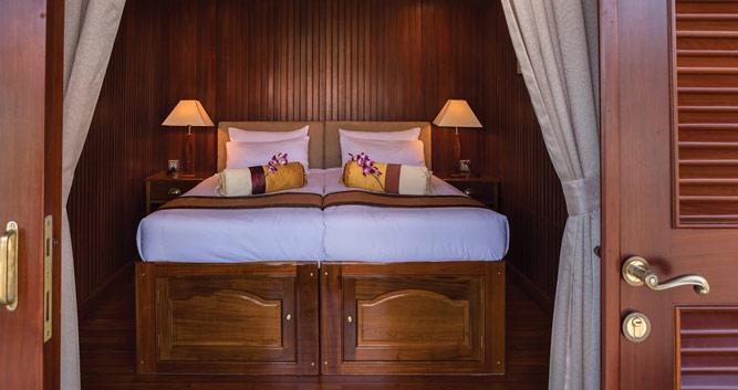Cabin interior, Pandaw Mekong cruise, Vietnam