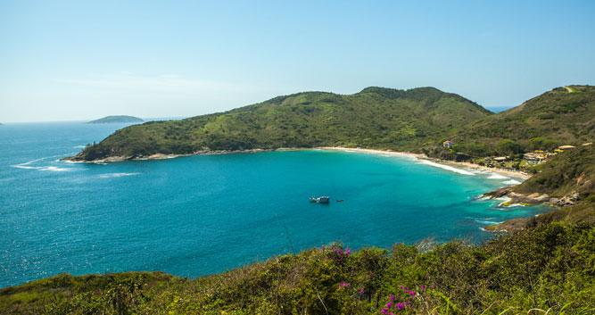 A view across the Buzios Peninsula, Brazil