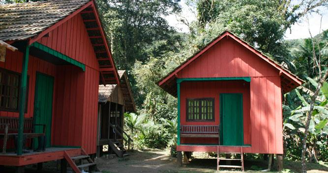 A lodge in the Atlantic Rainforest, Brazil