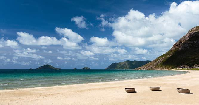 1.6 km of sandy beach at the Six Senses resort, Con Dao, Vietnam