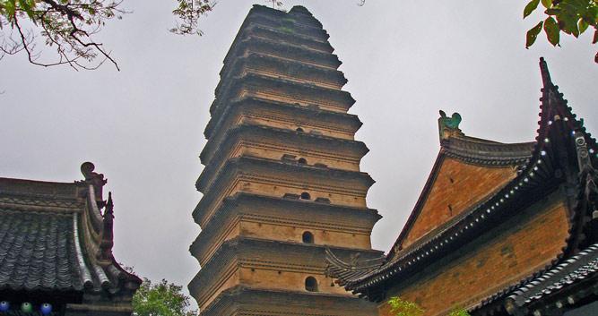 Small Goose Pagoda, Xian in Luxury China Travel