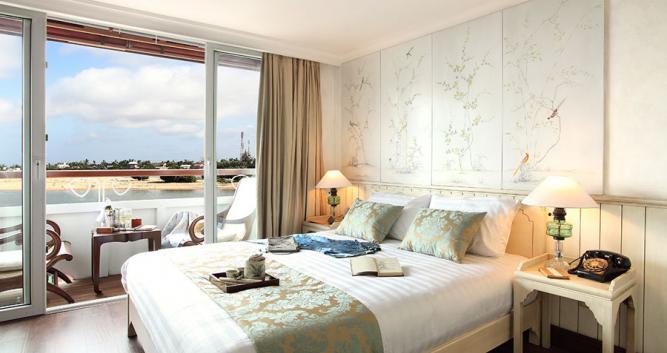 Superior cabin, the Jayavarman,luxury Mekong cruise, Vietnam