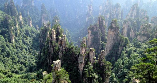 The-Stone-Forest-at-Zhangjiajie-National-Parkin Luxury-Travel-China