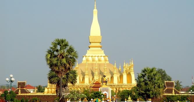 Pha That Luang monument, Vientiane, Laos