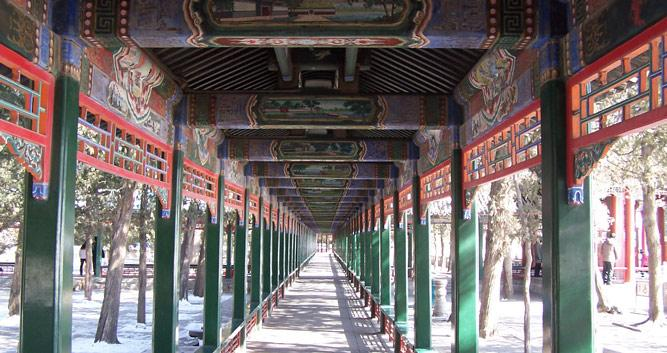 Walkway at Summer palace in Beijing in Luxury China Travel