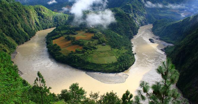 First bend in the Yangtze, Lijiang, Yunnan, China