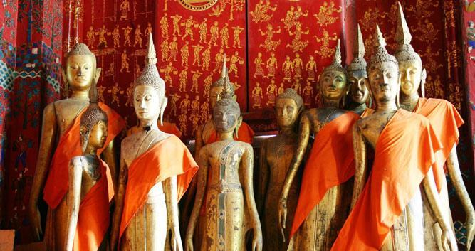 Buddha statues, Luang Prabang, Laos