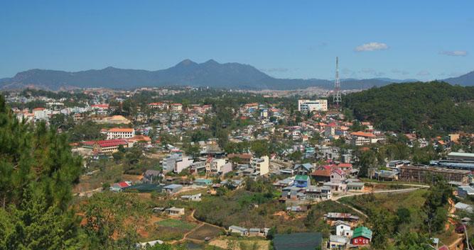 Ariel view of Dalat, Vietnam